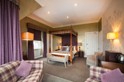 Spacious luxury four poster suite in fife