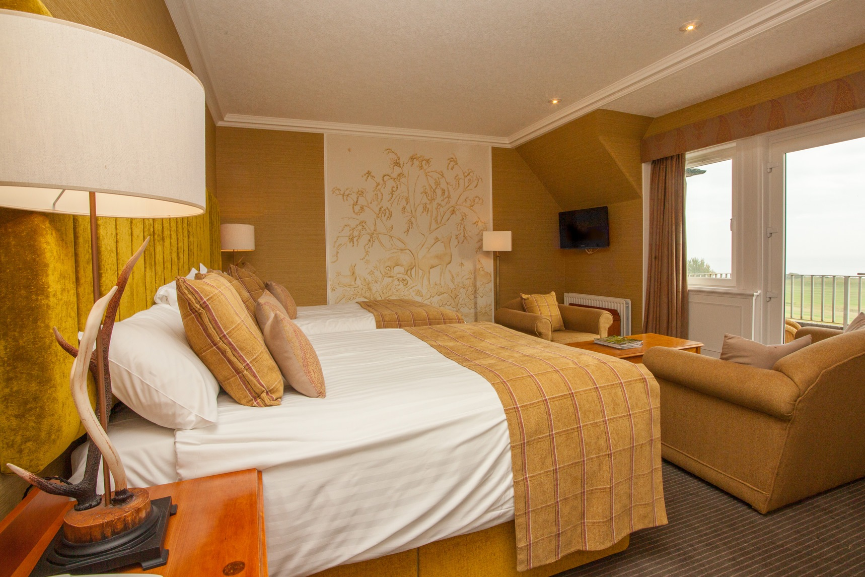 luxury accommodation with sea views